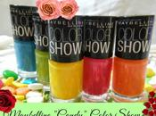 Maybelline 'Candy' Color Show Nail Colors Photos, Swatches