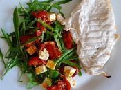 Rocket, Roasted Tomato, Basil Feta Salad
