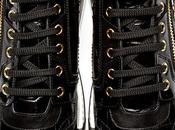 Luxe Run: Versace Black Croc-Embossed Leather Sneakers